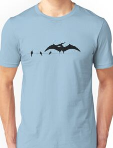 Bird on a wire expanded Unisex T-Shirt