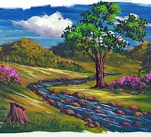 Spring Run in Acrylic by teresa731