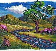 Spring Run in Acrylic by teresa731