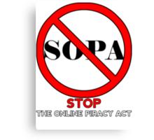 STOP SOPA Canvas Print