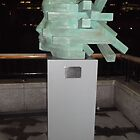 Blue Sculpture(2 of 2)/Millienium Mile Walk -(030112)- Digital photo by paulramnora