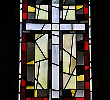 Stained Glass - Montparnasse Cemetery - Paris by William Gordon