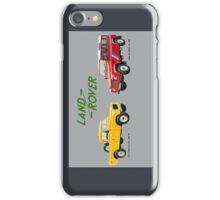 Land Rover 'composite' advert ('Saloon' Landy's) T-shirt etc... iPhone Case/Skin