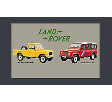 Land Rover 'composite' advert ('Saloon' Landy's) T-shirt etc... Photographic Print