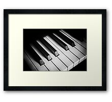 the keyboard Framed Print