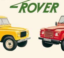 Land Rover 'composite' advert ('Saloon' Landy's) T-shirt etc... Sticker