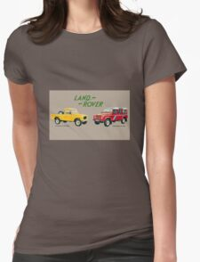 Land Rover 'composite' advert ('Saloon' Landy's) T-shirt etc... Womens Fitted T-Shirt