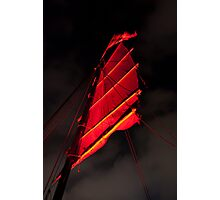 Under Blood Red Sails Photographic Print