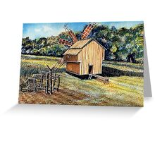 Windmill in the Forest Greeting Card