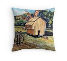 Windmill in the Forest Throw Pillow
