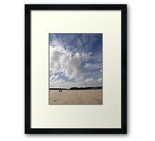 Walking Keadue Beach Donegal Ireland Framed Print