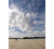Walking Keadue Beach Donegal Ireland Photographic Print