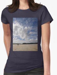 Walking Keadue Beach Donegal Ireland Womens Fitted T-Shirt