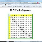 HTML/VBScript: 12 x Tables Square -(180112)- printout by paulramnora