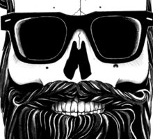 Ray's black bearded skull  Sticker