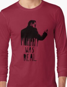 Moriarty Was Real - Black Long Sleeve T-Shirt