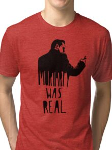 Moriarty Was Real - Black Tri-blend T-Shirt