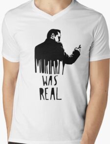 Moriarty Was Real - Black Mens V-Neck T-Shirt