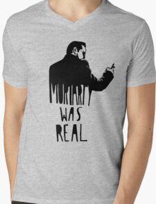 Moriarty Was Real - Black Mens V-Neck T-Shirt