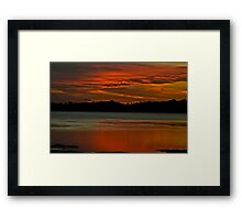 Pipe Clay Point Glow. Framed Print
