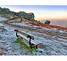 Cow and Calf Rocks Ilkley Moor - HDR Photographic Print
