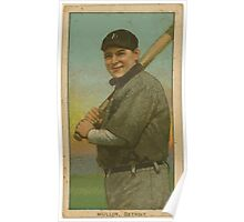 Benjamin K Edwards Collection George Mullin Detroit Tigers baseball card portrait 002 Poster