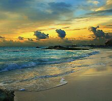 Sunset in Cancun Mexico by Jasper Glaspie