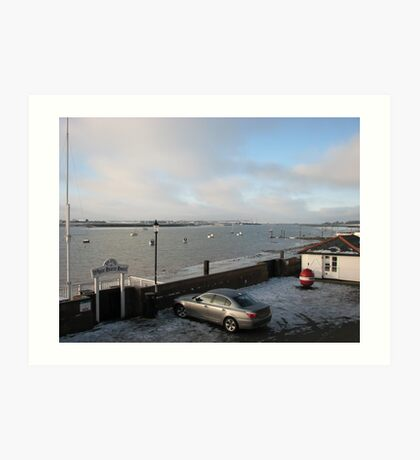 Winter Sunrise over the River Crouch Art Print