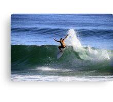Surfing Burleigh Canvas Print