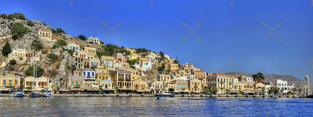 Symi Town Panorama by Tom Gomez