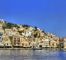 Symi Town Panorama by Tom Gomez