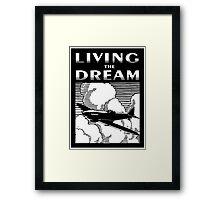 Living the Dream spitfire Framed Print