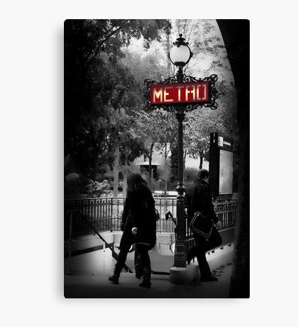 Paris Metro Entrance-Paris, France Canvas Print