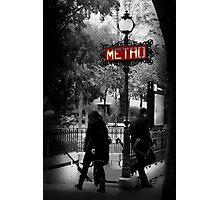 Paris Metro Entrance-Paris, France Photographic Print