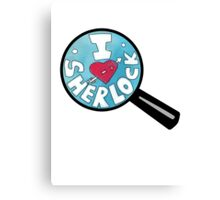 I HEART SHERLOCK Canvas Print