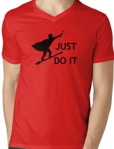 Just Do It Mens V-Neck T-Shirt