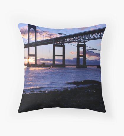 Winter Sunrise Newport RI Throw Pillow