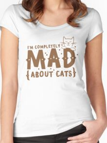 I'm completely MAD about CATS Women's Fitted Scoop T-Shirt