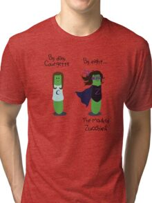 Courgette and The Masked Zucchini: double-life of a vegetable superhero Tri-blend T-Shirt