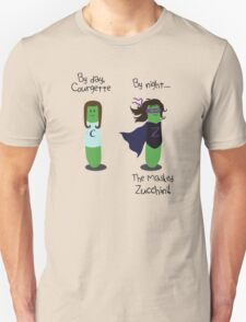 Courgette and The Masked Zucchini: double-life of a vegetable superhero T-Shirt