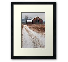 Old Rustic Barn and Snow Framed Print