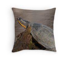 Blanding's turtle Throw Pillow