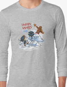 Calvin And Hobbes snow-wars Long Sleeve T-Shirt