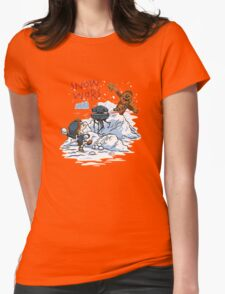 Calvin And Hobbes snow-wars Womens Fitted T-Shirt