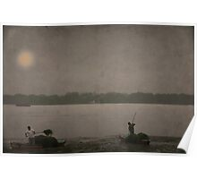 sunset on the lake of Summer Palace Poster