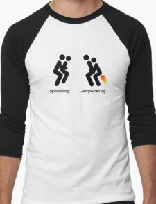 Spooning and Jetpacking Men's Baseball ¾ T-Shirt