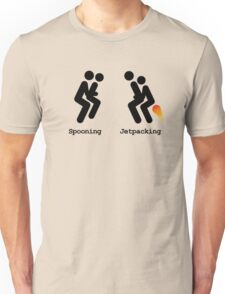 Spooning and Jetpacking Unisex T-Shirt