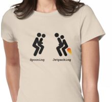 Spooning and Jetpacking Womens Fitted T-Shirt