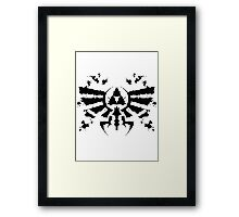 Hyrule Rorschach Framed Print