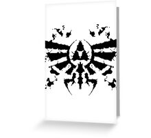 Hyrule Rorschach Greeting Card